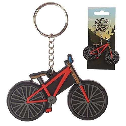 Puckator Mädchen und Jungen Bikes PVC Schlüsselanhänger, gemischt, Total Length 10cm Height 5.5cm Width 7.5cm Depth 0.2cm