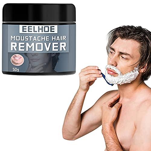 Guillala 1 Pieza Crema depilatoria Facial para Hombres Crema depilatoria Crema depilatoria para Bigote indolora para Hombres Axilas, Pecho, Espalda y Brazos