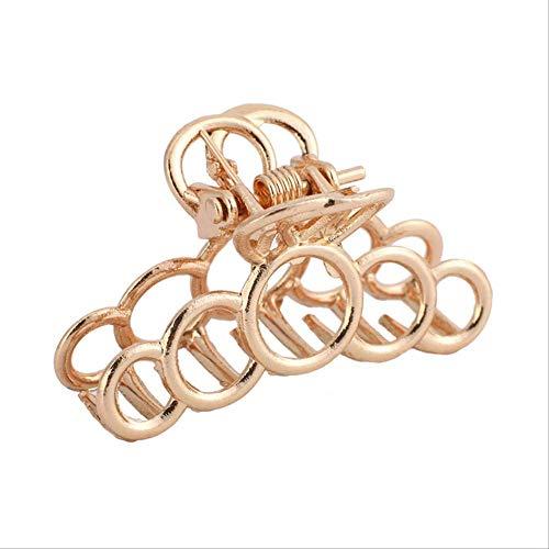 WSGYA Chic Metall Haarnadel Geometrische Haarnadel Pferdeschwanz Haarnadel Gold Shell Haarnadel Mode Haarschmuck 4,1x2cm 1