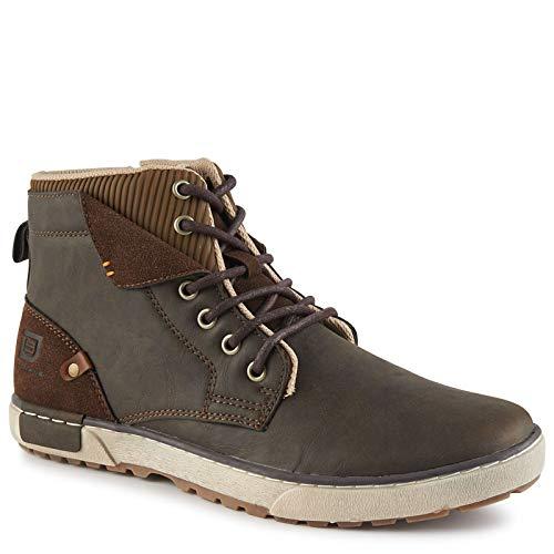 Day Five Men's Viper - Casual High Top Light Weight Hiking Boot Sneaker Dark Brown