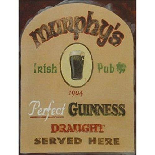 Buyartforless Murphy's Irish Pub by David Marrocco 18x24 Art Print Poster BAR Beer Poster Perfect Guinness Draught Served Here