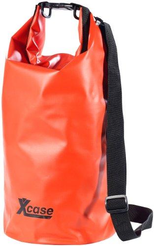 Xcase Packsack aus LKW-Plane: Wasserdichter Packsack 16 Liter, rot (Gepäckrolle)