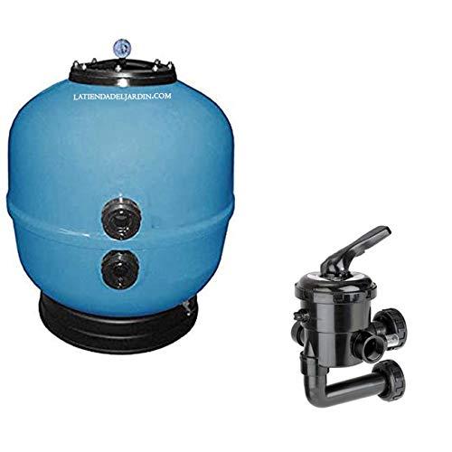 Suinga Kit Filtro DEPURADORA para Piscina DE 1 1/2' con VÁLVULA SELECTORA INCLUIDA, Modelo a Elegir (8 m3/h, para Piscinas 64 m3)