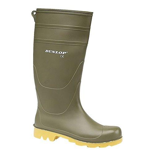 Dunlop Universal wasserdichter kniehoher Gummi-Stiefel - schwarz oder grün - 44 / 45 EU / 10 UK