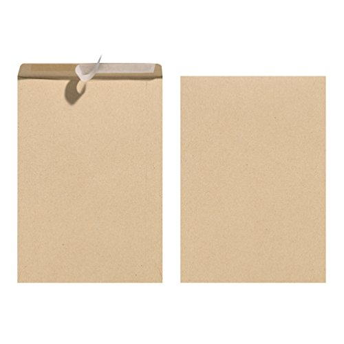 Herlitz C5 Mailing Bags Envelopes - Brown, 10er Pack