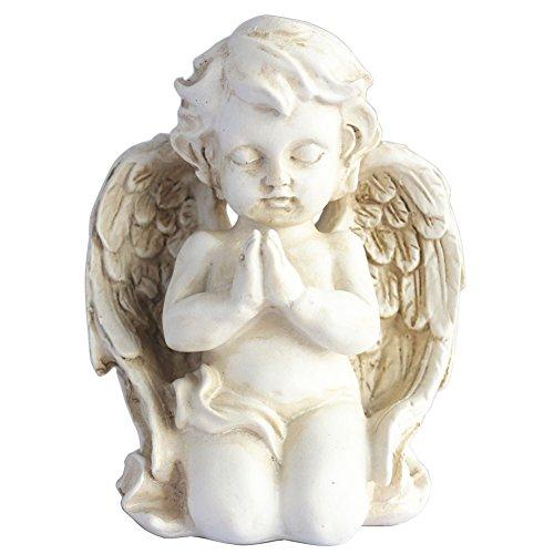 Vintage Kneeling Praying Cherub Statue Angel Statue Figurine Indoor Outdoor Home Garden Decoration Wings Angel Statue Sculpture Memorial Statue