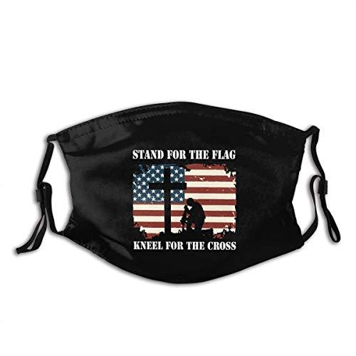 OPQRSTQ-O Sicherheit Staubdichtes halbes Gesicht Mundschild USA Amerikanische Flagge gemalt auf alten Holzplanken Sportabdeckungen Bandanas für Workout Sports Party