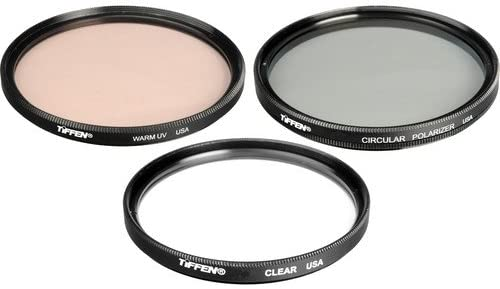 CP Tiffen 62DVVEK 62mm Video Essentials DV Filter Kit includes Clear Warm UV and Pouch