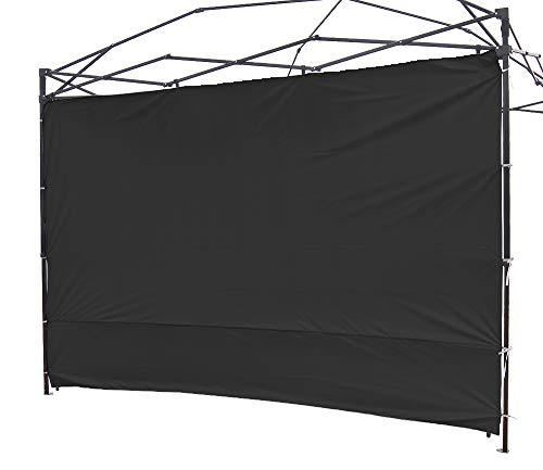 NINAT Seite Seitenmarkise Sonnenschirm Privatsphäre Panel Wand für 3 M Gartenlauben/Canopy Zelt Wasserdicht (Pavillon Rahmen Nicht inbegriffen) Schwarz Panel Wall