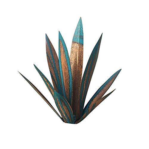 テキーラ素朴な彫刻、DIYメタルアガーブ工場、ガーデンヤードアート装飾芝生飾りの家の装飾、庭の置物、ヤードステークス、芝生の装飾品、屋外のパティオヤードのための金属アガベの植物