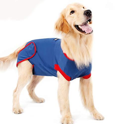 BT Bear Hunde-OP-Genesungsanzüge, weiche elastische Baumwolle, Haustier-Katzen-Erholungsjacken, Weste nach Operationen, Kleidung nach Operationen, Tragen, Anti-Lecken Wunden (XL)
