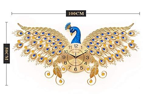 Paon Horloge Murale Salon Mode De Style Européen Super Ambiance Créatif Silencieux Horloge Électronique Chinois Ménage Décoration Horloge À Quartz