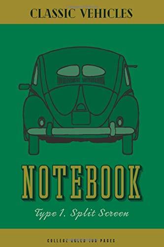 Type 1. Split Screen: College Ruled note book journal and repair workbook