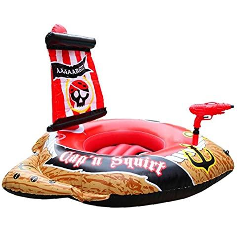 TOSSPER Swimming Pool Aufblasbare Kinder-Piraten-Boot-Schiff Schwimmer Schwimmen-Ring Pool Sitzkleinkind-wasserspielzeug