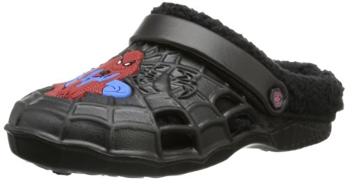 Spiderman Jungen Boys Kids Clog Sandals & Mules Pantoletten, Mehrfarbig (Black), 27