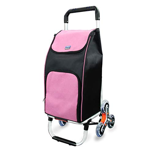 Carrito De Compras De 6 Ruedas para Supermercado, Paño Impermeable Oxford Aislado Picnic Picnic Trolley, Carro De Comestibles Reutilizable (Color : A)
