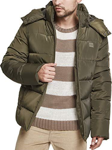 Urban Classics Herren Hooded Puffer Jacket Jacke, Darkolive, XL