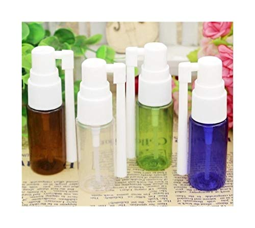 QHKS 2pcs / lot 5/10/15 / 20ml Vider plastique Spray Nasal Bouteilles Pompe du pulvérisateur Mist nez Bouteille spray Rechargeables (Color : Brown, Size : 20ml)