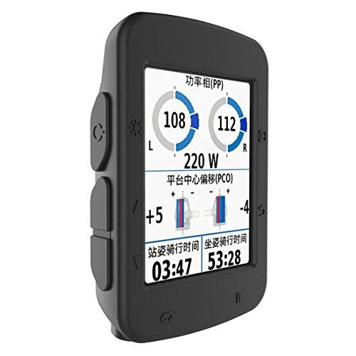 BIKECO Cas pour Garmin Edge 520 - Housse de Protection en Silicone - Ordinateur de vélo Accessoires GPS (Noir)