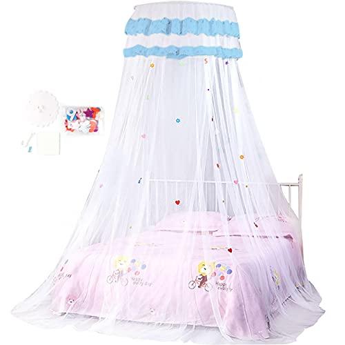 Emoshayoga Cama Cortina Net Estilo Princesa Robusto Dormitorio Casa Babyroom(blanco)