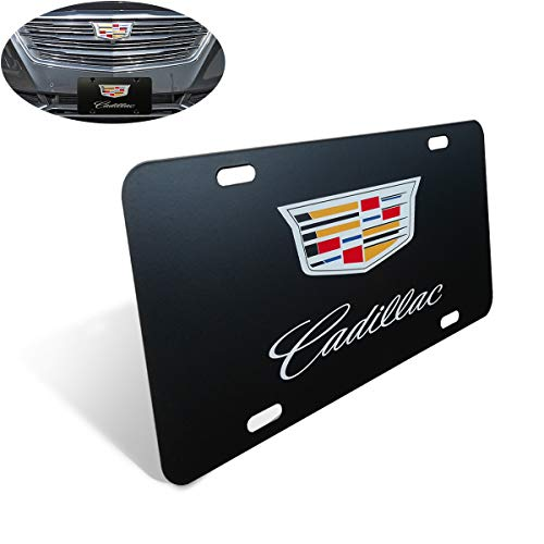 Stainless Steel Chrome Resin 3D Front License Plate Covers with Screw and Caps to Personalize Your Cadillac License cargooghi Heavy Duty Premium 3D Logo License Plate Cover for Cadillac All Models