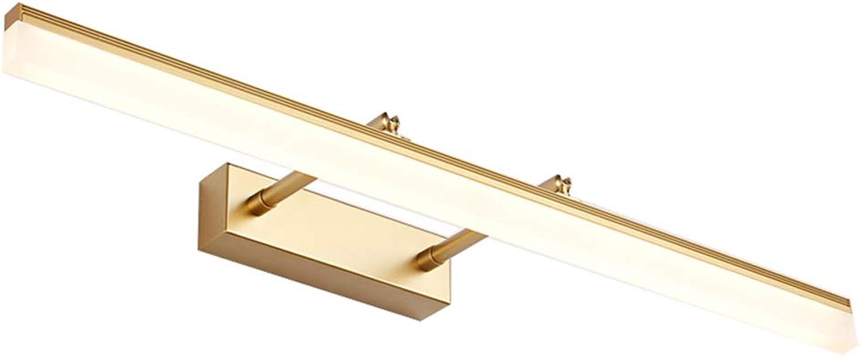 Spiegel Frontleuchte LED Spiegelschrank Licht Badezimmer Wasserdicht Anti-Fog Nordic Moderne minimalistische Make-up Lampe Schminktischlampe (Gre  40-90cm 12 14 16 20W) (Farbe   Gold-60cm 14W)