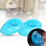 耳カバープロテクター、10 個入りブルーシリコーン耳カバーイヤーマフ再利用可能な髪の染料シールドキャップ汚れ防止プラスチックガードは家の個人的な理髪高品質を保護します。