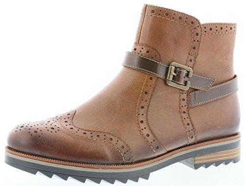 Remonte R2278 Damen Stiefeletten, Stiefel, Boots, Schlupfstiefel braun (Chestnut/Kastanie / 24), EU...