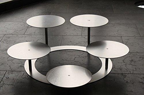 Tortenständer Tortenetagere Aluminium 3 Etagen Rund, Hochzeitstortenständer Ø 30 cm