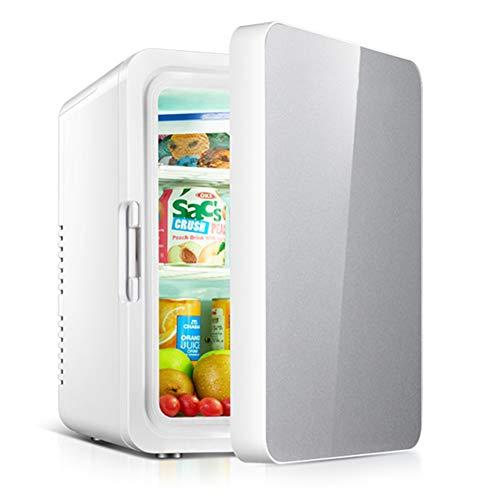 Mini Frigorífico Con Congelador, Minibar Pequeño, 10 Litros, Temperatura Ajustable, Mini Nevera...