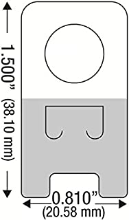 100 Self Adhesive Clear Plastic Hang Tabs Tags Hanger Pegbord Slatwall Hook 12Oz