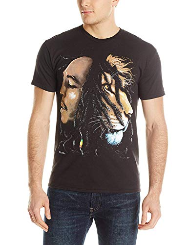 Bob Marley Lion Profile Adult T-Shirt L Black