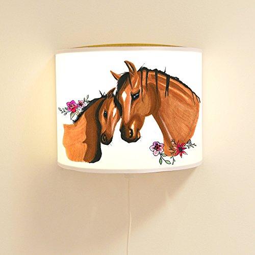 ilka parey wandtattoo-welt Leseschlummerlampe Leselampe Schlummerlampe Wandlampe Kinderlampe Lampe Pferde Pferd mit Fohlen Ls27