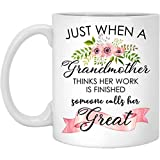 First Time Great-Grandmother Gift Mug, Coffee Mugs For Best Mom Grandma Nana, New Great Grandmas Pregnancy Announcement. Cute Travel Tea Cup Gifts for Mothers Day, Birthday, Christmas, Thanksgiving
