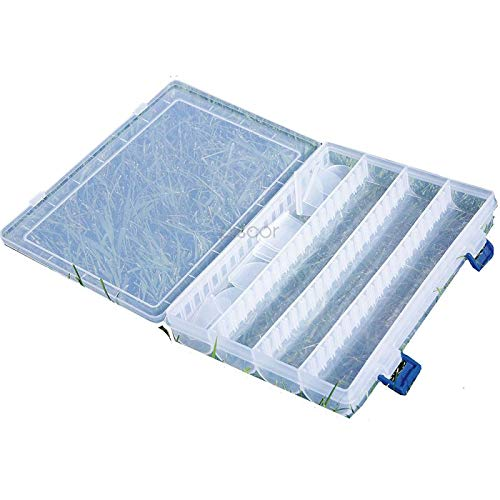 Lineaeffe Boîte Poly 9 25 x 18 x 4 cm Boîte de Pêche Rangement Accessoire Leurre Hameçon Compartiment Plastique