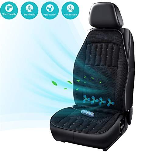 Himacar kussen voor de auto, verkoelend en verwarmbaar zitkussen met 3D-ventilatie, ergonomische bureaustoel, rugpijn