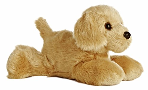 Aurora World - Mini Peluche a Forma di Cane Golden Retriever, Serie Flopsie