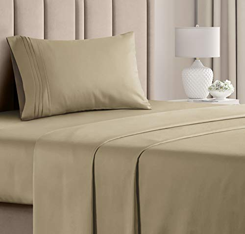 Twin Sheet Set - 3 Piece - College Dorm Room Bed Sheets - Hotel Luxury Bed Sheets - Extra Soft Sheets - Deep Pockets - Easy Fit - Breathable & Cooling Sheets – Bed Sheets - Twin - Twin Mattress Sheets
