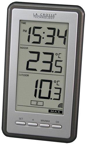 Product Image 2: La Crosse Technology Indoor/Outdoor Temperature WS-9160U-IT Digital Thermometer, Titianium