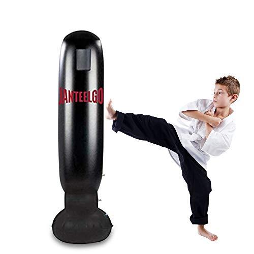 Saco de Boxeo Autoestable de Pie 160 cm- JanTeelGO Bolsas Perforadas por Trabajo Pesado con portaobjetos para Entrenamiento Intenso, Gimnasia, Deportes, Alivio del Estrés