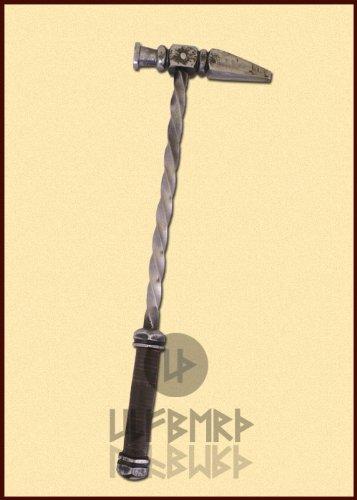 Kriegshammer Streitkolben für Schaukampf von ULFBERTH 45cm für Ritter Mittelalter