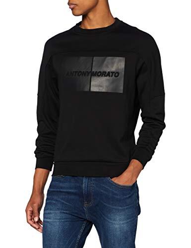 Antony Morato MMFL00696-FA150080-9000 Sudadera, Negro, S para Hombre
