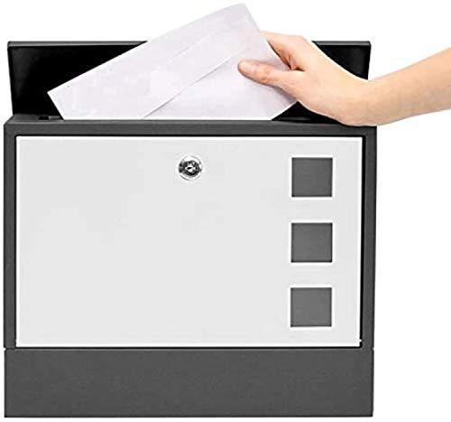 B-fengliu Post Box, Briefkasten, Briefkasten, verzinkter Stahl Waterproof Design Postbox, mit Slim Line und Zeitungsfach, an der Wand befestigtes, abschließbare