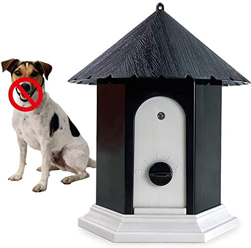 Anti Barking Device, 2021 Upgrade Ultrasonic Bark Deterrents, Bark Control Device for Outdoor, Up to 50 Feet Range (Black)