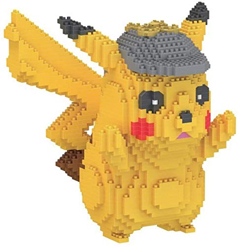 Pikachu Series Character Modelo Building Block Juguetes para Niños, Amarillo