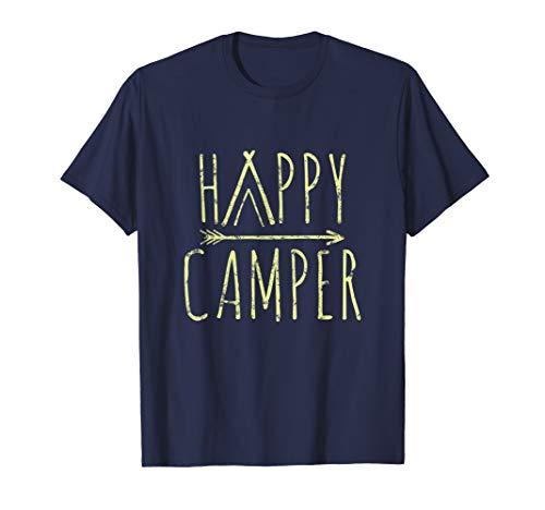 Happy Camper Camping T-Shirt | Camp Tee For Men Women & Kids T-Shirt