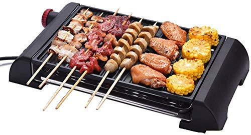 Teppanyaki - Barbacoa eléctrica sin humo antiadherente, con temperatura regulable de control...