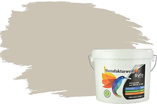 RyFo Colors Bunte Wandfarbe Manufakturweiß Lichtgrau 6l - weitere Grau Farbtöne und Größen erhältlich, Deckkraft Klasse 1, Nassabrieb Klasse 1