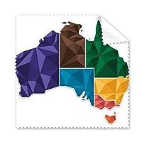 オーストラリア地図 地図 州 カラフル イラスト メガネ クロス クリーニング 布 電話 スクリーン クリーナー 5個