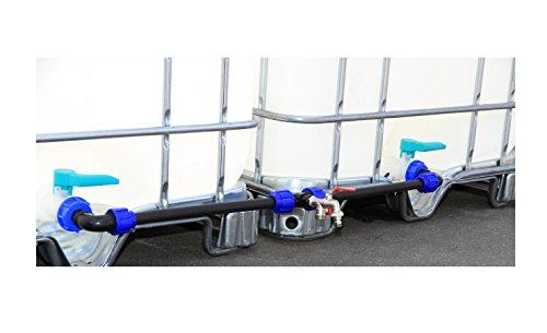 IBC adaptador Set de conexión para dos IBC depósitos de agua de lluvia Top de calidad # 2011